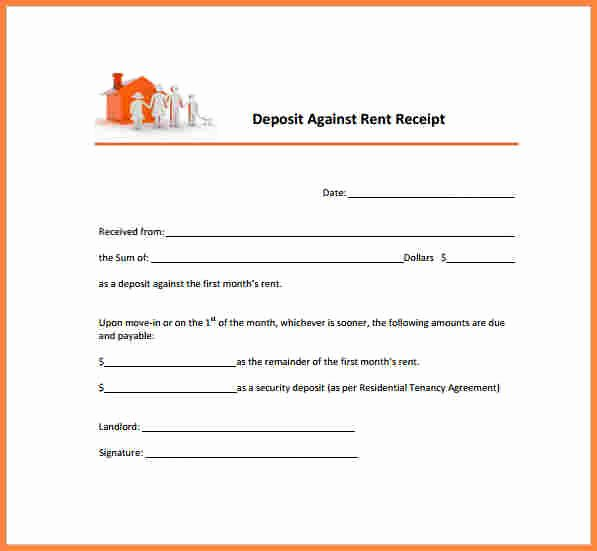 Rent Deposit Receipt Template Elegant 4 House Rent Bill Sample
