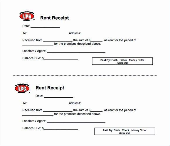 Rent Deposit Receipt Template Elegant Rent Invoice Template