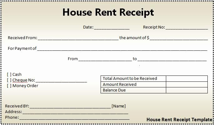 Rent Deposit Receipt Template Unique Rent Receipts