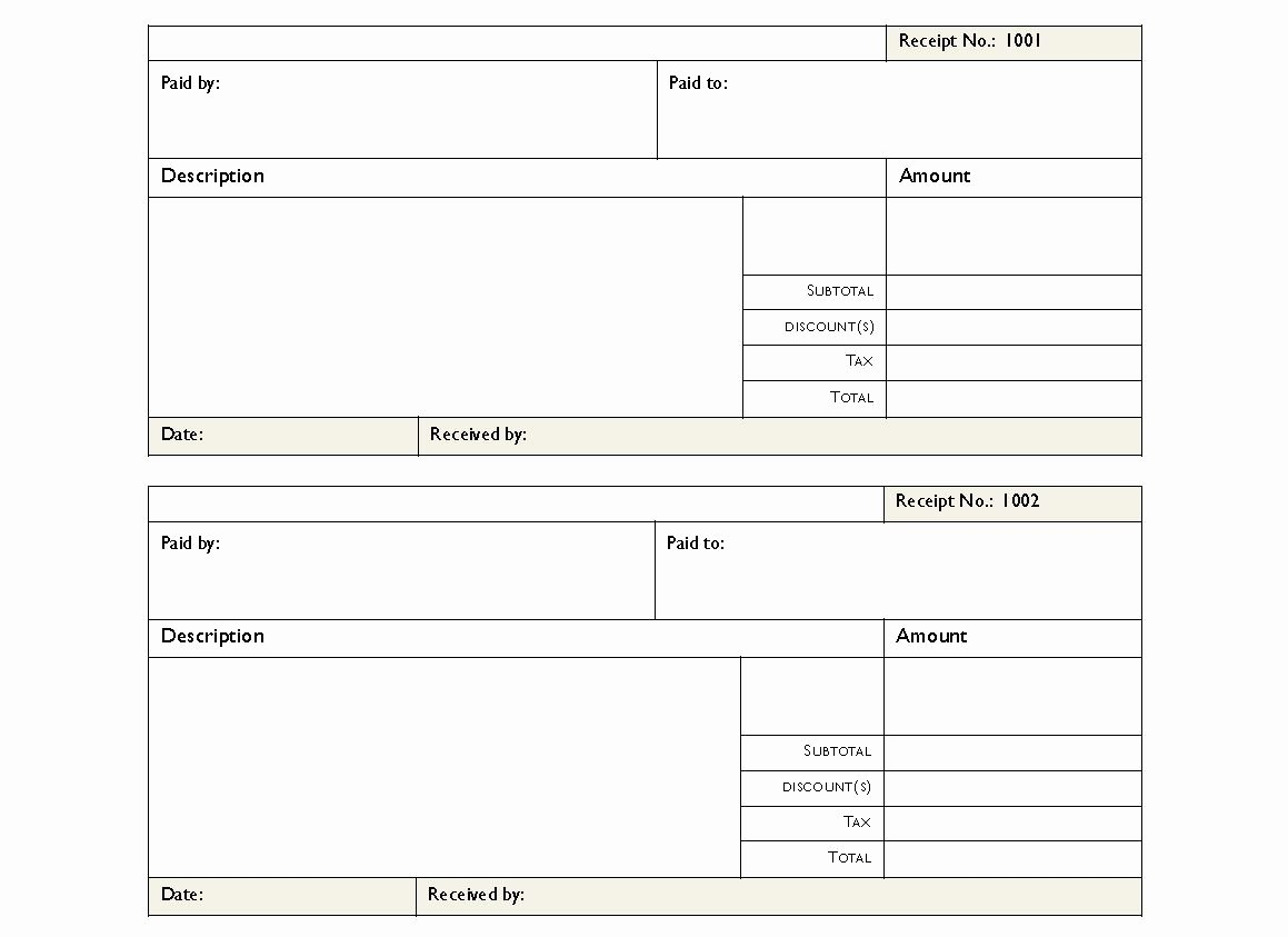 Rent Invoice Template Pdf Elegant Rent Receipt Pdf