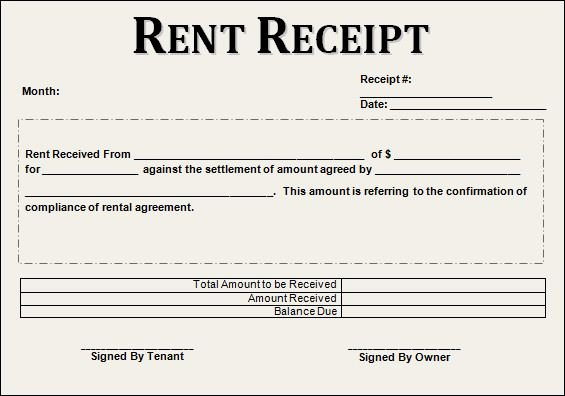 Rent Invoice Template Pdf Inspirational 12 House Rent Receipt formats
