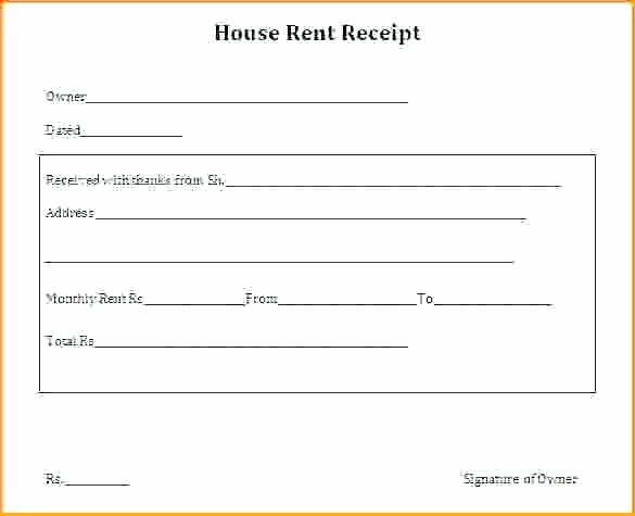 Rent Invoice Template Pdf Lovely House Rent Receipt format India Pdf House Rent Receipts