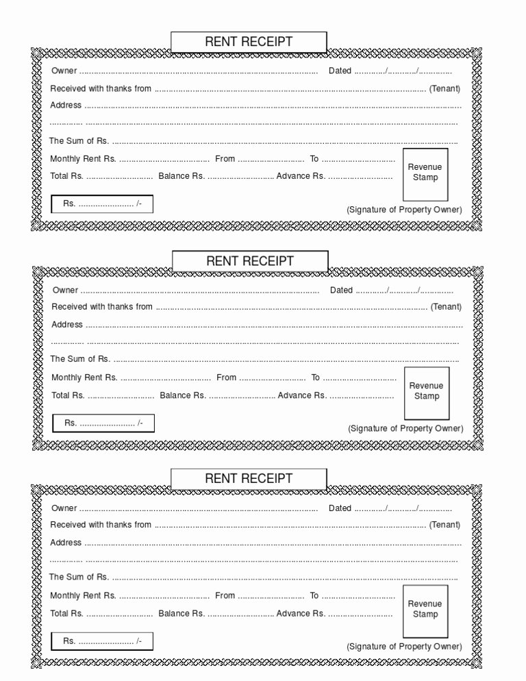 Rent Invoice Template Pdf Lovely Rent Receipt