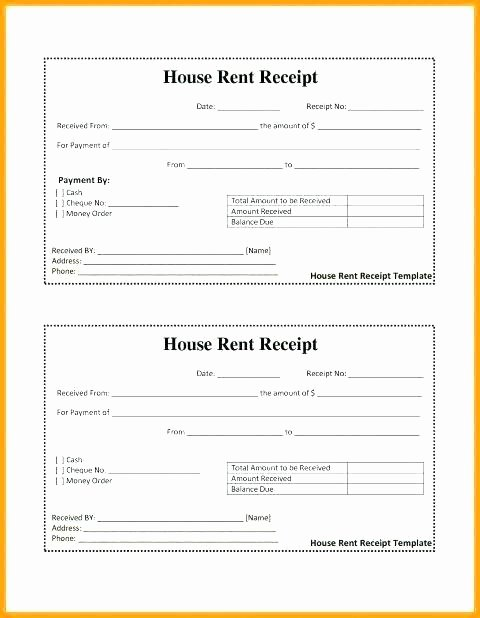 Rent Invoice Template Pdf Unique House Rent Slips – Idmanado