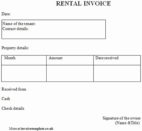 Rent Invoice Template Word Awesome Rent Invoice Template Paper Templates Printable Invoices