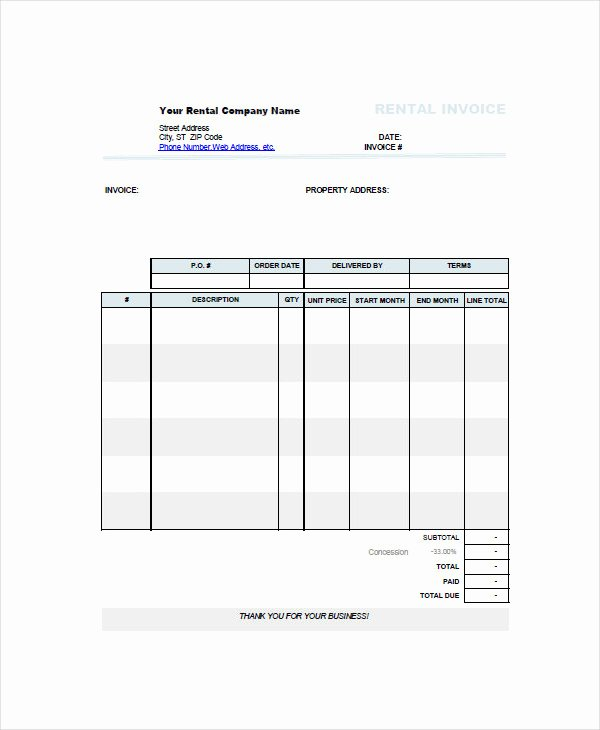 Rent Invoice Template Word Beautiful 7 Rent Invoice Examples & Samples Pdf Word Pages
