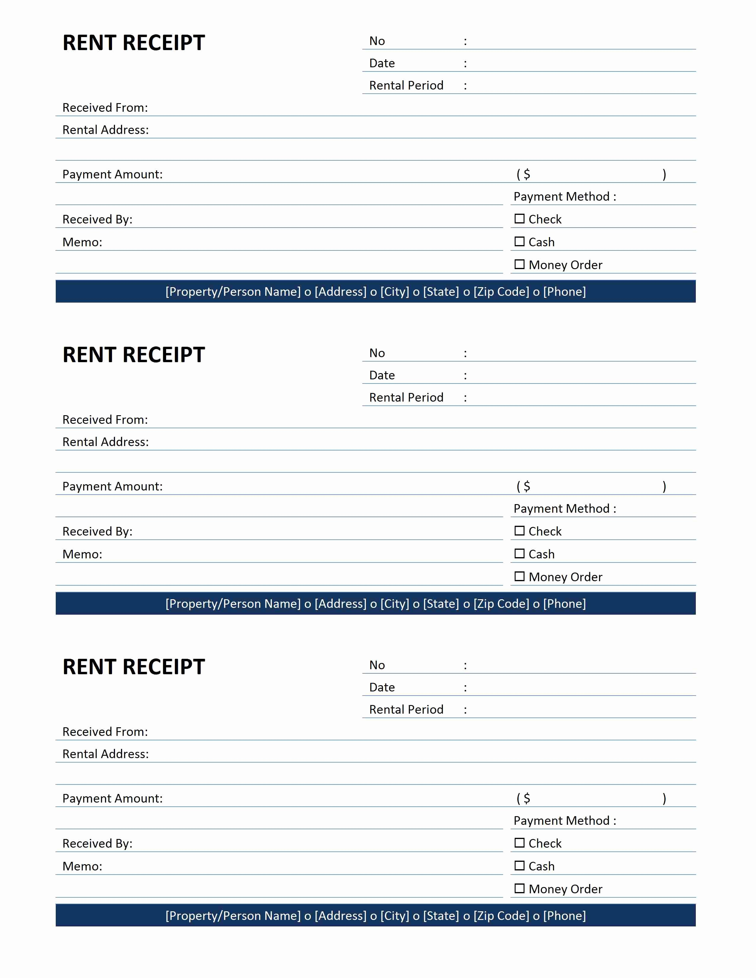 Rent Invoice Template Word Fresh Rent Receipt