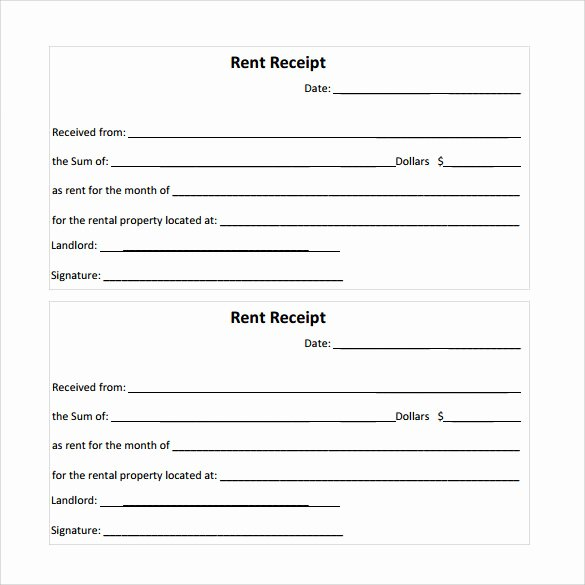 Rent Invoice Template Word Unique 21 Rent Receipt Templates