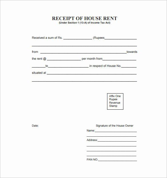 Rent Receipt Template Doc Awesome 35 Rental Receipt Templates Doc Pdf Excel