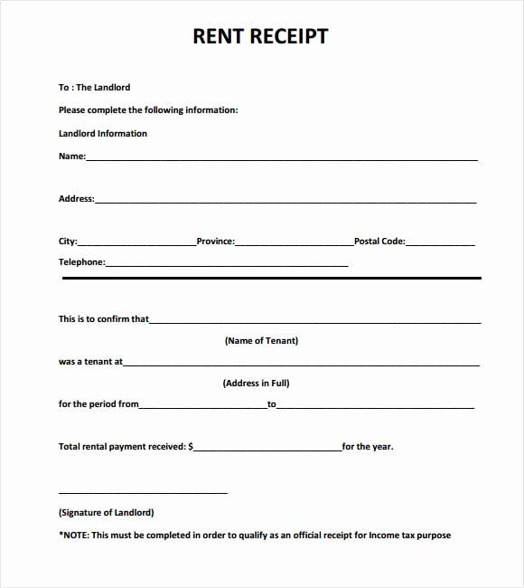 Rent Receipt Template Doc Beautiful 6 Free Rent Receipt Templates Excel Pdf formats