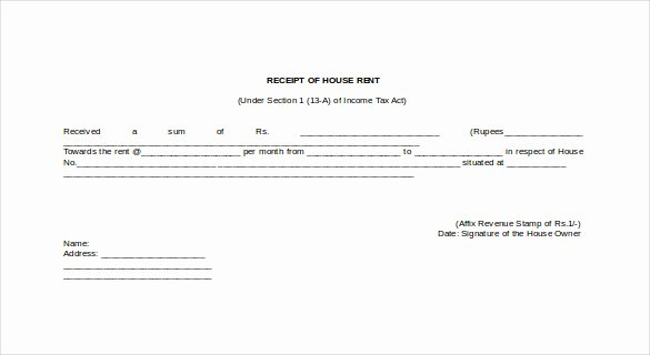 Rent Receipt Template Doc Elegant 35 Rental Receipt Templates Doc Pdf Excel
