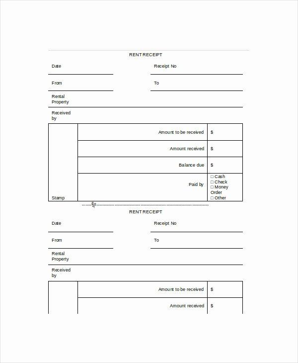 Rent Receipt Template Doc Elegant Rent Receipt Template 11 Free Word Pdf Documents