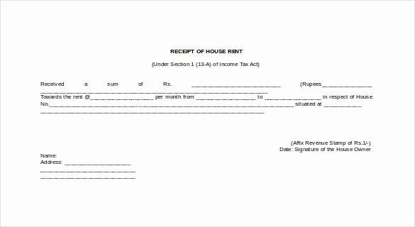Rent Receipt Template Doc Inspirational House Rent Receipts