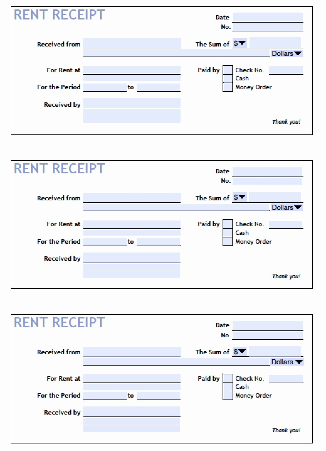 Rent Receipt Template Doc Lovely Download Printable Rent Receipt Templates Pdf