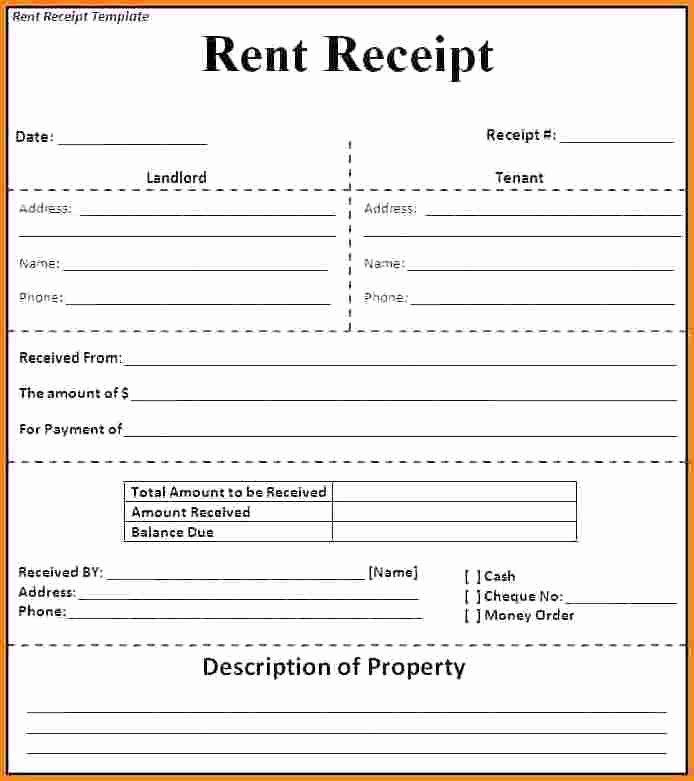 Rent Receipt Template Doc Luxury 6 Rental Receipt format India