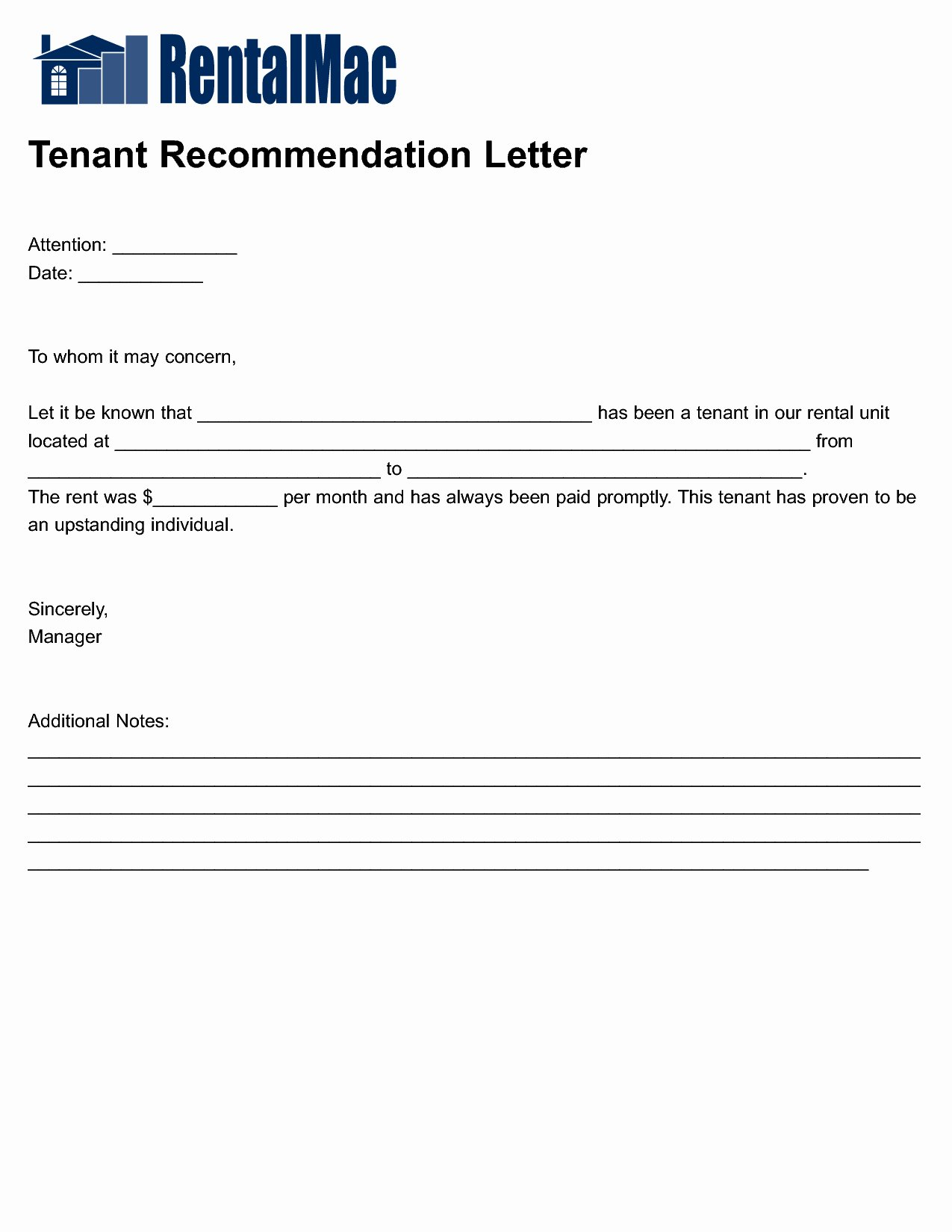 Rental Reference Letter Template Awesome Rental Reference Letter Template Collection