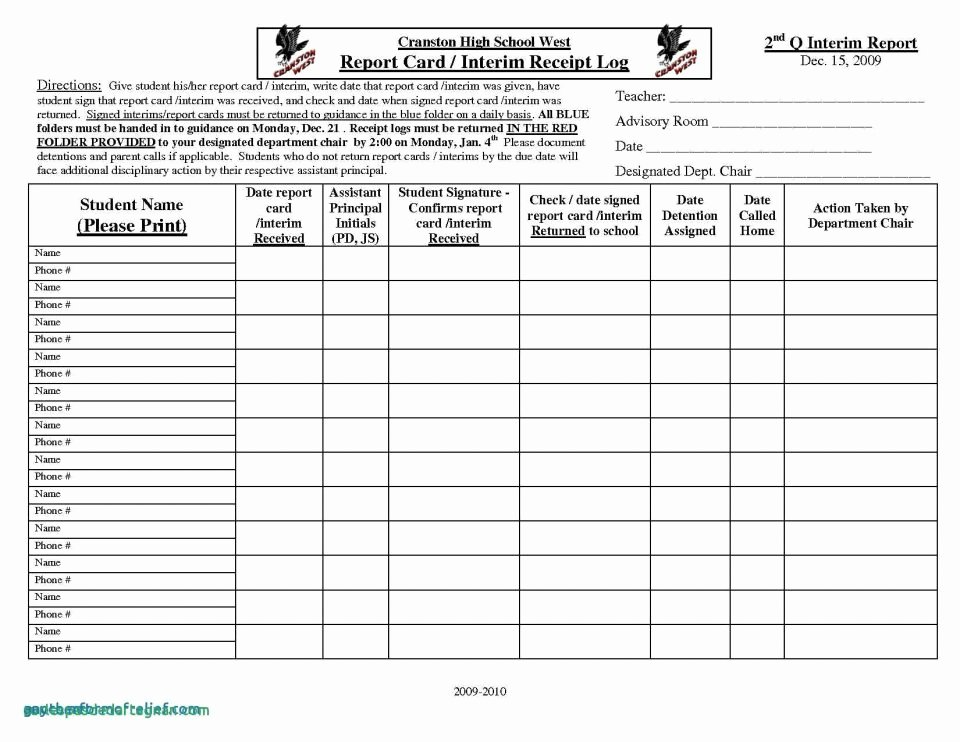 Report Card Template Excel Inspirational Report Cardlate Middle School Munity College Excel