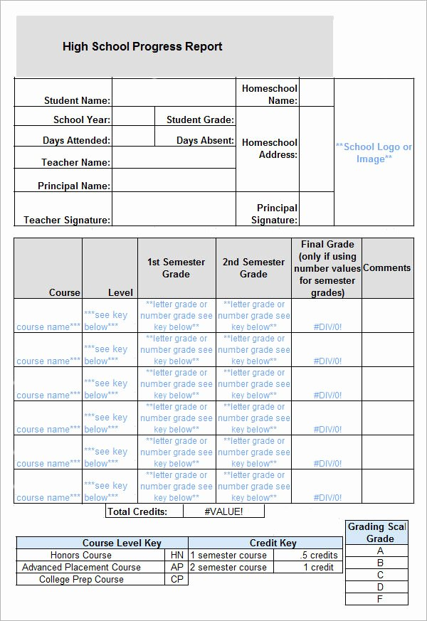 Report Card Template Pdf Best Of 10 Sample Report Cards – Pdf Word Excel