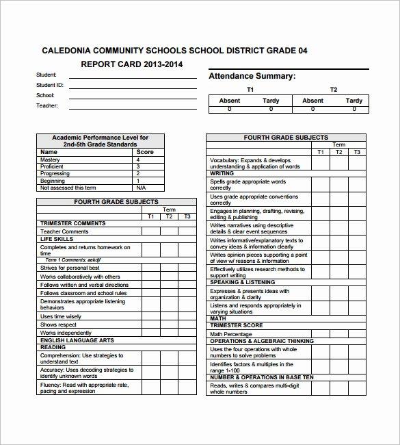 Report Card Template Pdf Elegant 26 Progress Report Card Templates Google Doc Pdf Psd