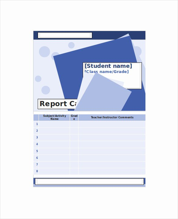 Report Card Template Word Beautiful Homeschool Report Card Template 6 Download Documents In