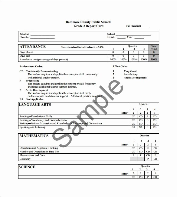 Report Card Template Word Fresh 14 Progress Report Card Templates Word Pdf Docs Pages