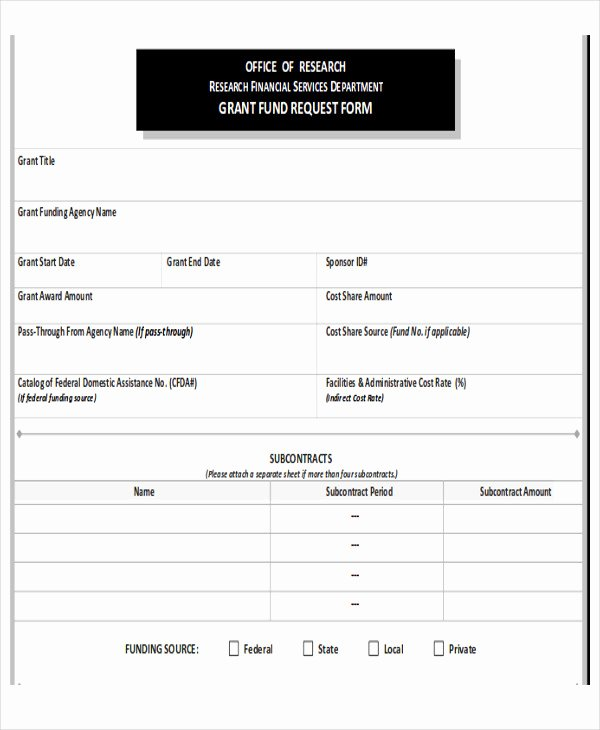 Request for Funds Template Luxury 10 Sample Funding Request forms
