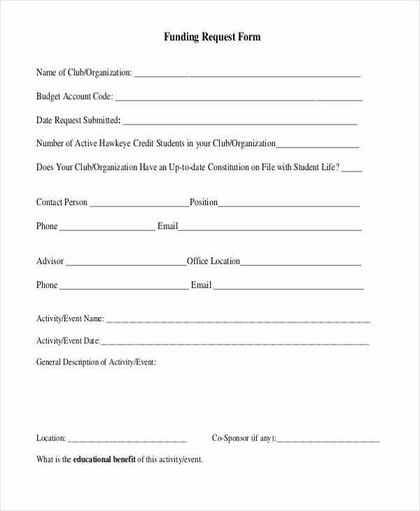 Request for Funds Template Luxury Sample Request forms 11 Free Documents In Pdf