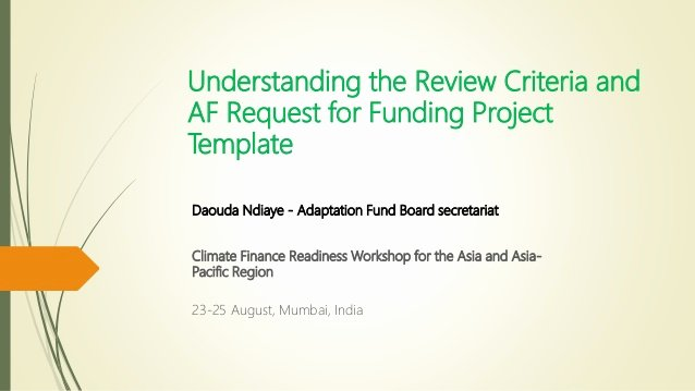 Request for Funds Template Luxury Understanding the Review Criteria and Adaptation Fund