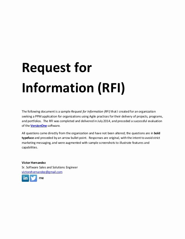 Request for Information Template Beautiful Sample Request for Information Rfi Document