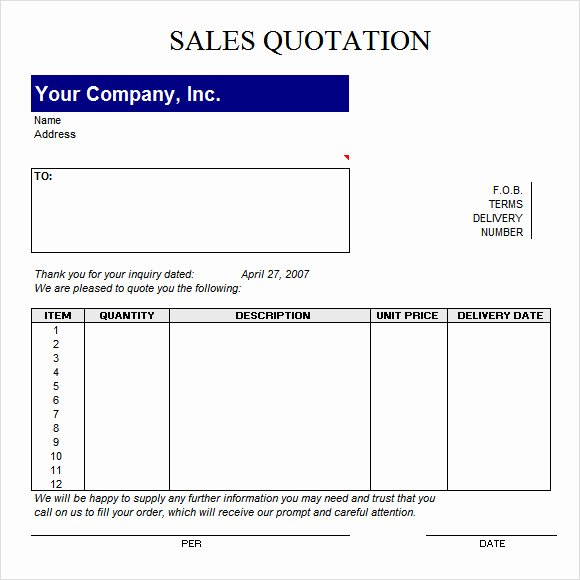 Request for Quotation Template Beautiful 45 Quotation Templates