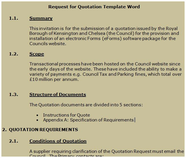 Request for Quotation Template Best Of Get Request for Quotation Template Word Projectemplates