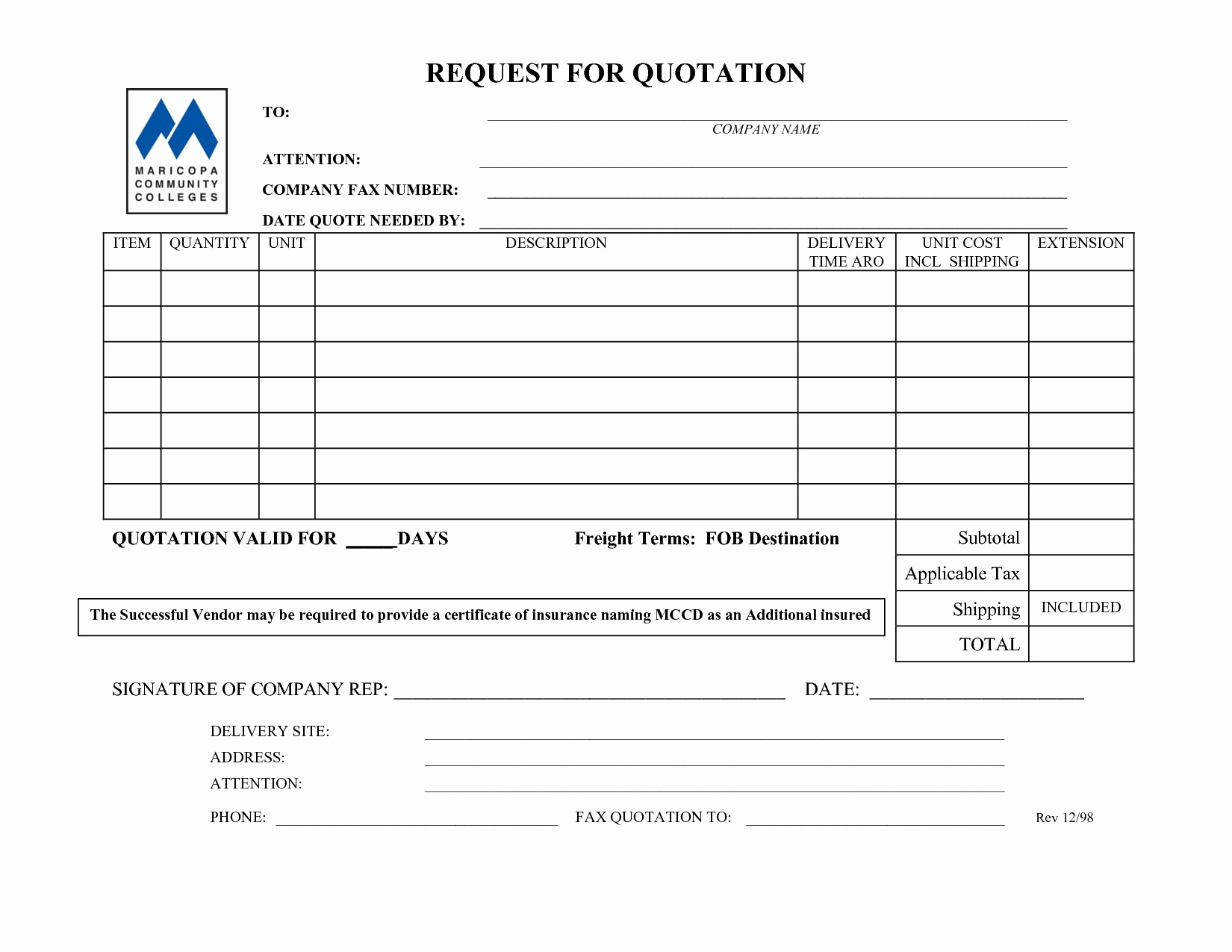 Request for Quotation Template Elegant Best S Of Quote form Template Free Quote forms