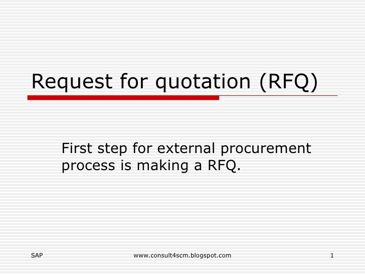 Request for Quotation Template New Request for Quotation Rfq