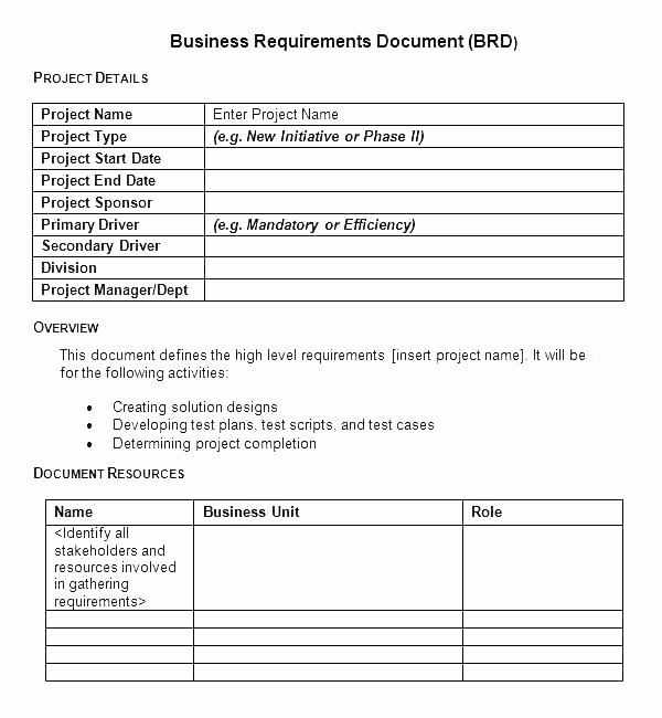 Requirement Gathering Template Excel Elegant Requirement Gathering Template for software Development
