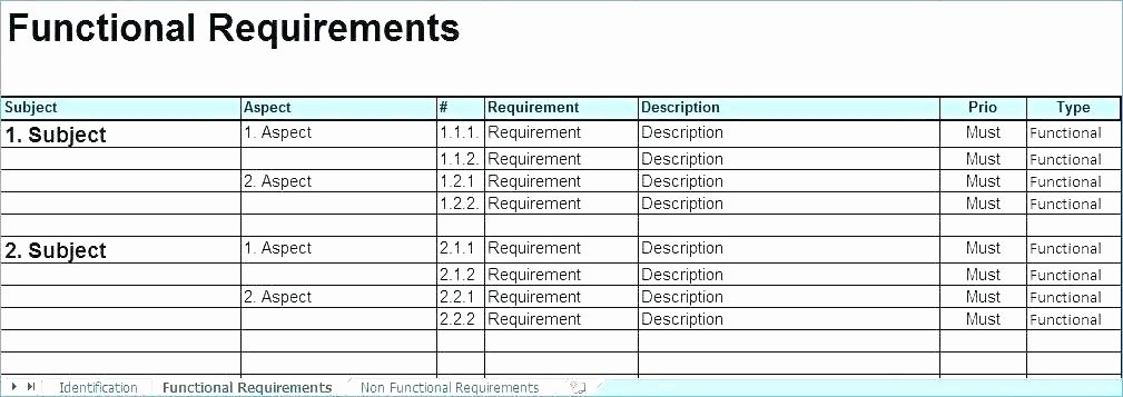 Requirements Gathering Template Excel Beautiful Reporting Requirements Template Excel Spreadsheet Report