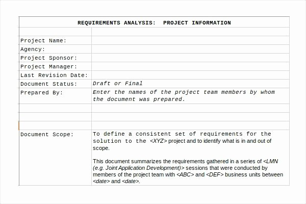 Requirements Gathering Template Excel Lovely Construction Project Management Templates Excel and