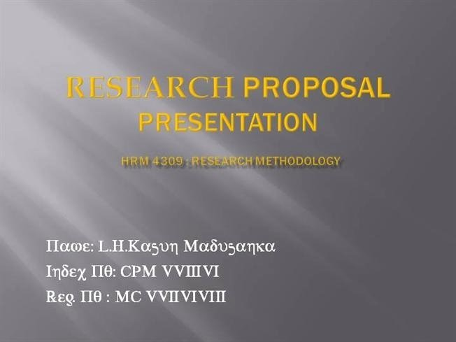 Research Presentation Powerpoint Template Luxury Research Proposal Presentation Template