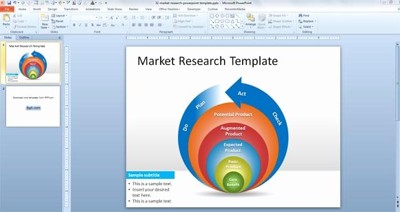 free market research powerpoint template