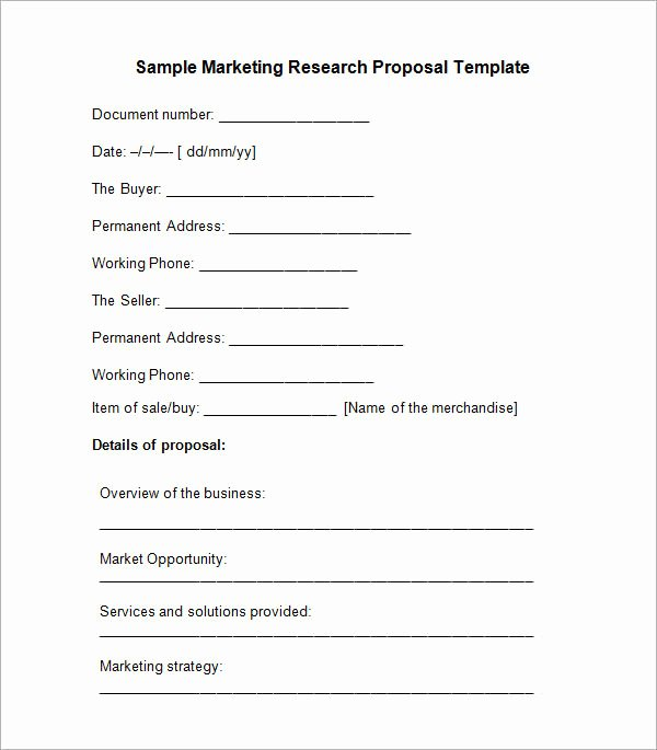 Research Proposal Outline Template Beautiful Sample Research Proposal Template 5 Free Documents