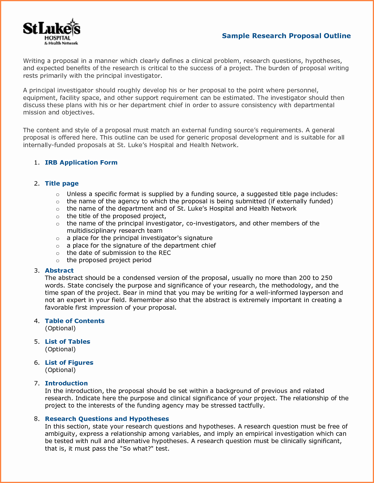Research Proposal Outline Template Best Of 5 Science Proposal format