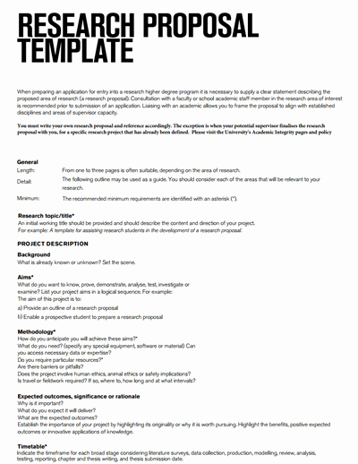 Research Proposal Outline Template Best Of Research Proposal Template Free Download Create Edit