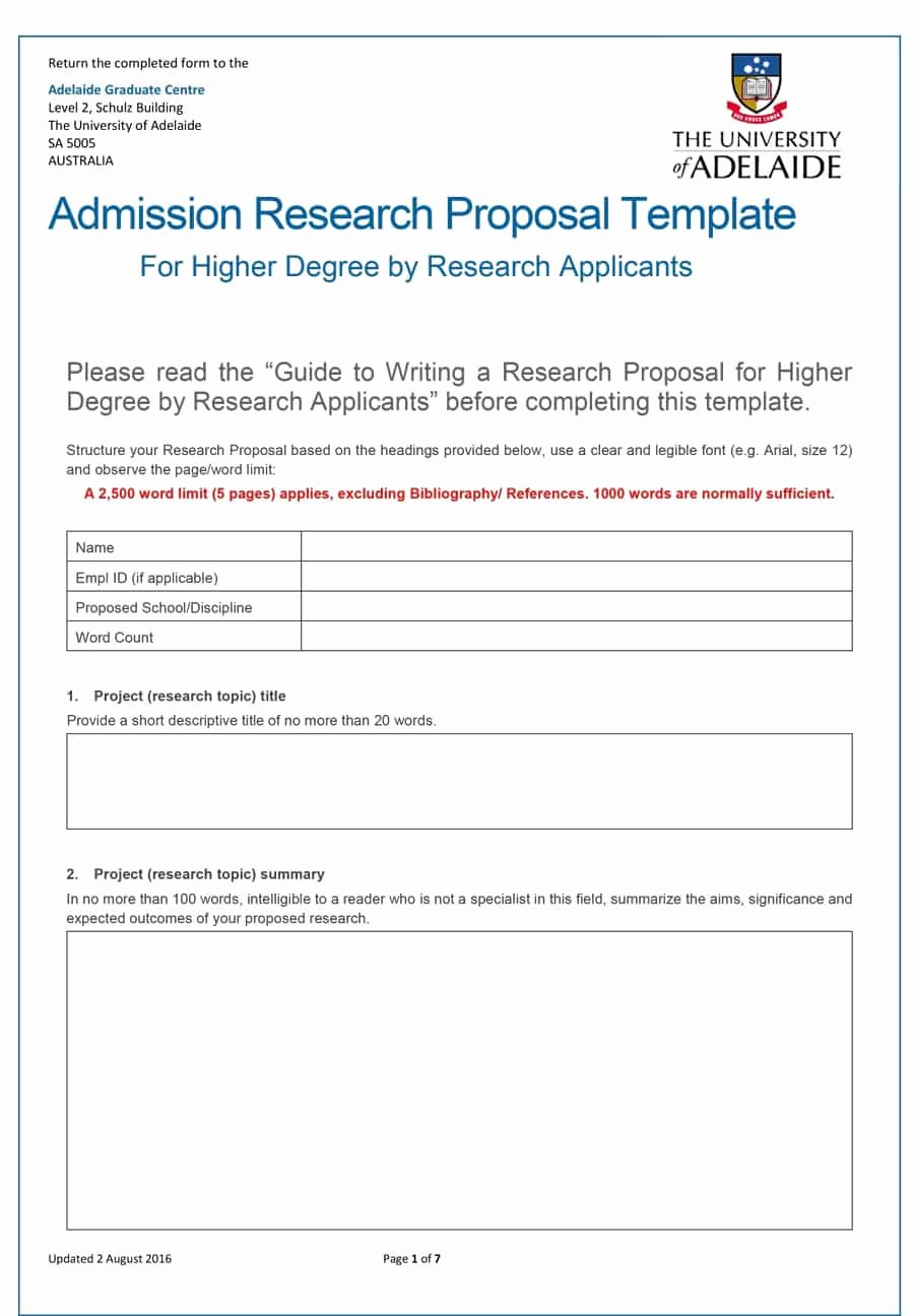 Research Proposal Outline Template Fresh Choose From 40 Research Proposal Templates & Examples 100