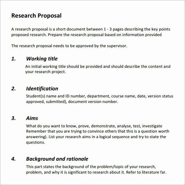 Research Proposal Outline Template Luxury 7 Research Proposal Templates Free Pdf Doc