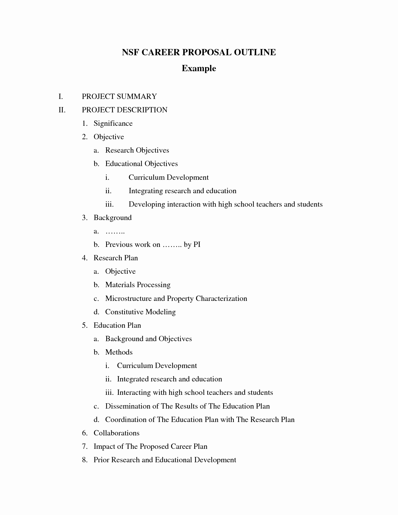 Research Proposal Outline Template Luxury Best S Of Sample Proposal Outline Proposal Outline
