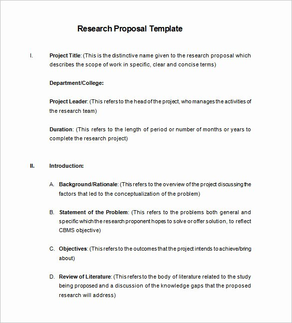 Research Proposal Outline Template New Research Proposal Templates 17 Free Samples Examples