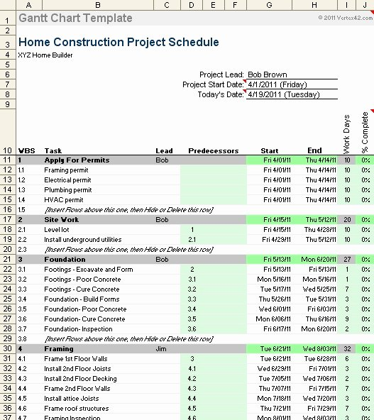 Residential Construction Schedule Template Fresh New Home Construction Schedule Template Invitation Template