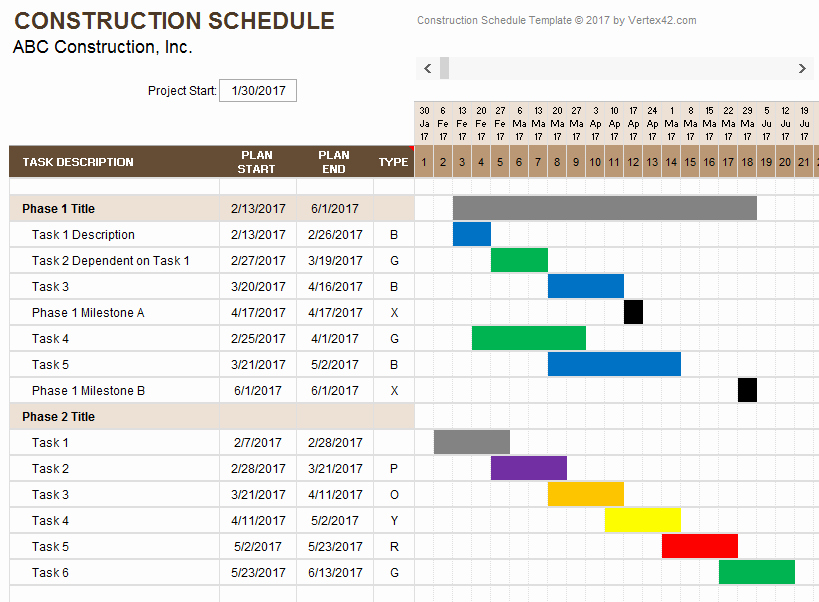 Residential Construction Schedule Template Luxury Construction Schedule Template