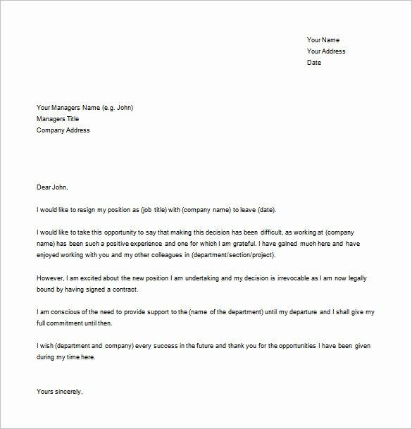 free resignation templates