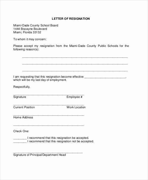 Resignation Letter Template Pdf Fresh 5 Sample Board Resignation Letters