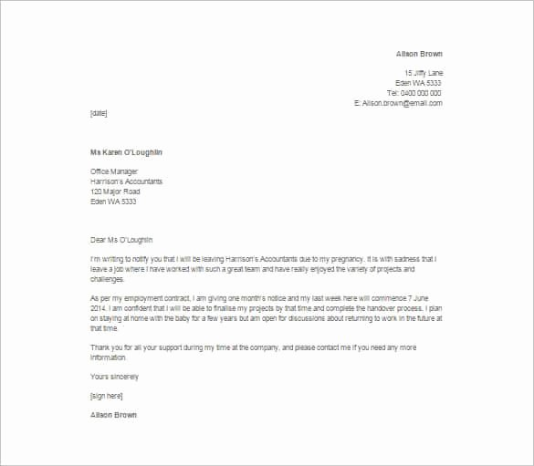 Resignation Letter Template Pdf New Simple Resignation Letter Template – 15 Free Word Excel